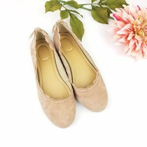 Jack Rogers Women's Lucie Suede Ballet Flat sz 8.5